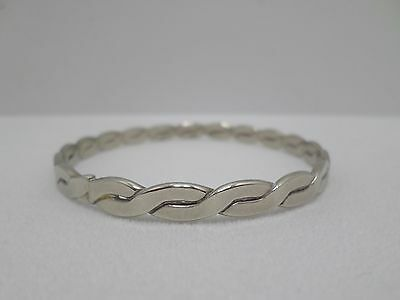 Bangle Bracelet Mexican Sterling Silver Braided Vintage