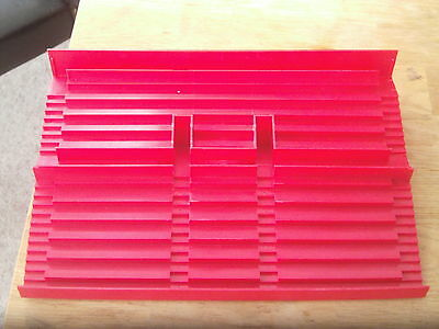 Subbuteo Red Grandstand Terrace Section **good Condition**