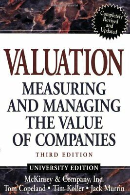 Valuation 3rd ed by Murrin, Jack Paperback Book The Cheap Fast Free Post