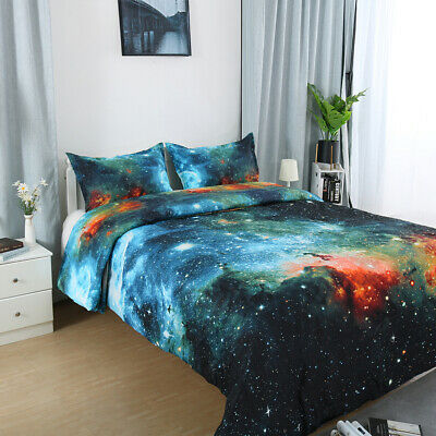Galaxy Quilt/Doona Cover Set Double/Queen/King Bed Size Stars Duvet Covers New