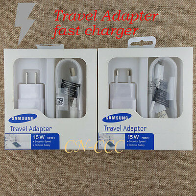 OEM Original For Samsung Galaxy Note 4 5 S6 S7 Edge Adaptive Fast Charging+Cable