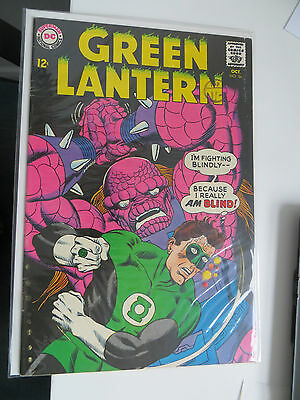 Green Lantern: Unrestored Silver Age Dc Comic #56 Vfn Around Grade 7.5 Ow Pages