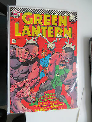 Green Lantern: Unrestored Silver Age Dc Comic #51 Fn Around Grade 7.5 Ow Pages