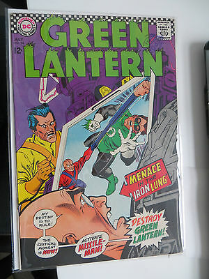 Green Lantern: Unrestored Silver Age Dc Comic #54 Vfn Around Grade 8 Ow Pages
