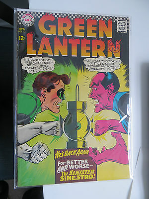 Green Lantern: Unrestored Silver Age Dc Comic #52 Vfn Around Grade 8.5 Ow Pages