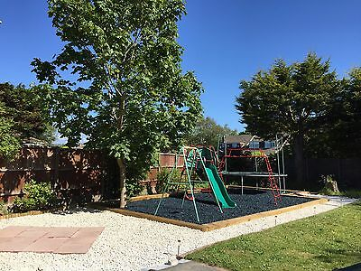 Decorative Colour chips, Rubber Play Bark, Safe play surface Soft Mulch, 400kg