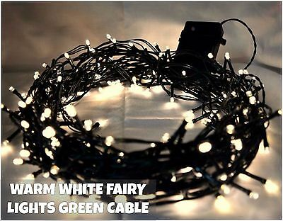 7M 100 LED Warm White Fairy Christmas String Lights Indoor Outdoor Tree Garden