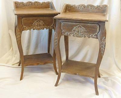 A Lovely Pair Of French Bedside Or Side Tables In The Antique Manner