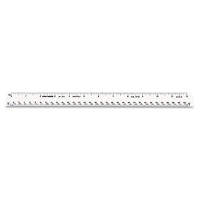 "Triangular Scale, Plastic, 12"", Architectural, White"