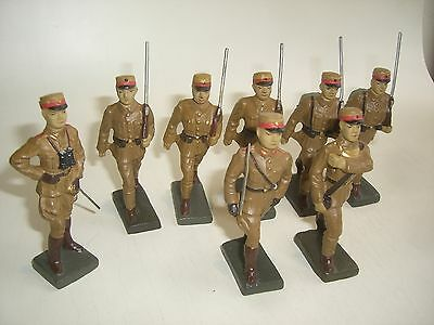8 Lineol Figuren Chinesen / China Figurs / Original von ca. 1935 / TOP RAITÄT