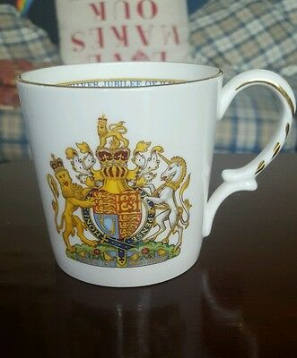 Aynsley 1977 siliver anniversary cup