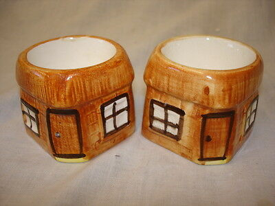 Price Kensington Ye Olde Cottage Ware Hand Painted 2 X Egg Cups( Pb)