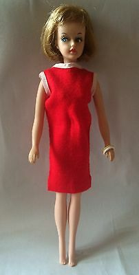 Vintage Tressy Doll Hair Grow 1964 American Character Original Red Dress 1964