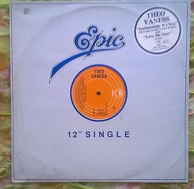 Theo Vaness-Sentimentally It's You Epic Epc 13-7792 Uk 1979 Electronic Funk/soul