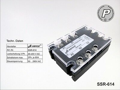SSR-614 Halbleiter Solid State Relais 400VAC 80A AC