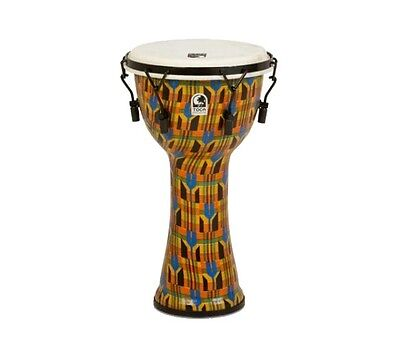Toca TOCSFDMX10k 10 inch Mechanically Tuned Djembe Kente Freestyle Hand Drum