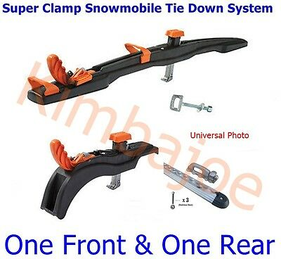 One Front & One Rear Super Clamp II Snowmobile Tie Down System
