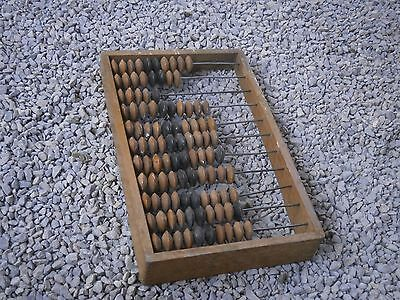Antique Vintage Wooden Big Mashine Numeracuy For Calculus