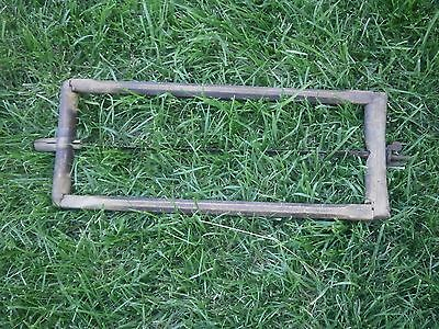 Vintage Antique Wooden Tool Saw With Dark Patina