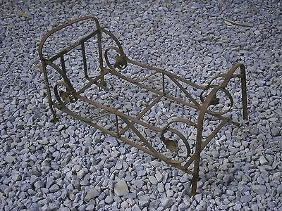 Antique Vintage Wrought Iron Bed Toy Hand Made