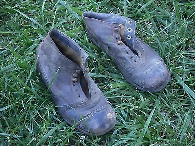 Vintage Antique Leather Shoes For Kids