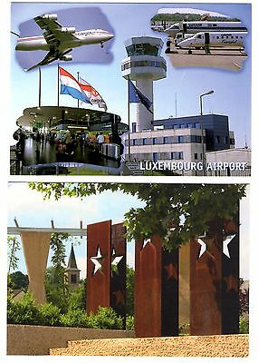 2 new postcards from LUXEMBOURG - AIRPORT (D1)
