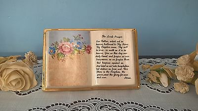 """Vintage """"the Lord's Prayer"""" Book Ornament"""