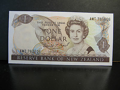 New Zealand $1 Banknote P-169, Uncirculated, A Beauty