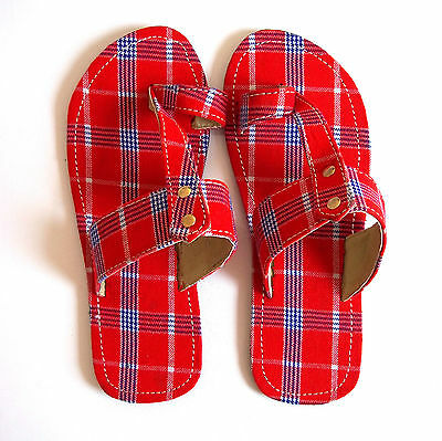 Ethnic Masai Tribal Sandals, African Handmade Holiday Christmas Tanzania Gifts