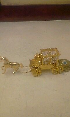 Horse and carriage crystal temptations 24k plated