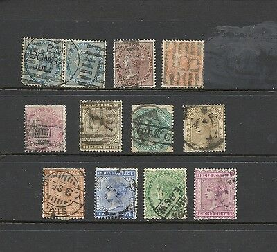 1855 Onwards Queen Victoria Collection Old Rare All different used INDIA