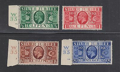 GREAT BRITAIN #226-229 Mint Hinged 1935 SILVER JUBILIEE