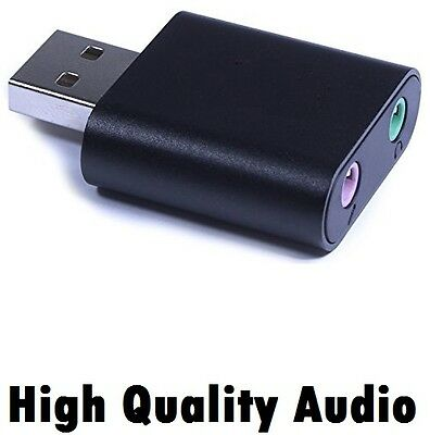 High Quality USB 7.1 External Stereo Sound Card 3.5mm Mic Audio Adapter for PC