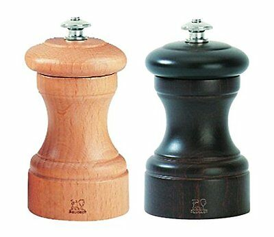 Peugeot Bistro Chocolate Pepper Mill and Natural Salt Mill Set 4 Inch
