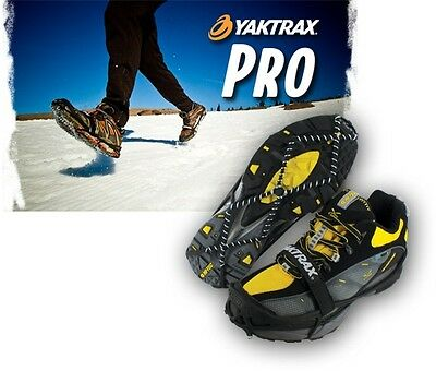 Yaktrax PRO Snow Ice Walking Running Shoe Walker Chain Safety Anti-Slip Grips