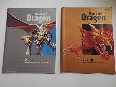 Best Dragon Magazine Collection Vol. III 3 1983 and Vol. IV 4 1985 Vintage D&D