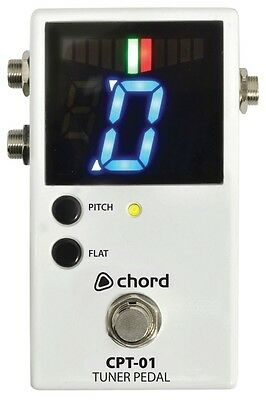 Chord CPT-01 Chromatic Tuner Pedal for guitar or any electric instrument