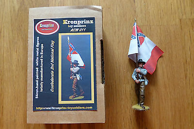 Kronprinz Toy Soldiers, Confederate 2nd National Flag ,ACW011, Civil War 1/30