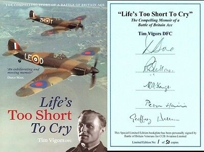 Tim Vigors autobiography book signed by 5 RAF Battle of Britain Fighter pilots