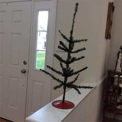 Antique c1920 German Christmas Feather Tree 37""