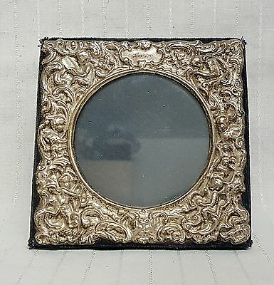 Sterling solid silver Cherub Rococo Repousse picture frame birmingham 1998