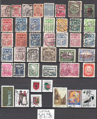 LOT 36. LATVIA X41 Diff STAMPS, Good Cat.