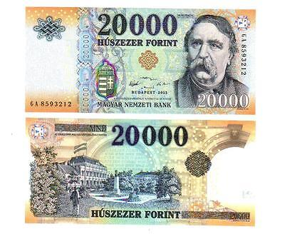 Ungarn Hungary 20000 20.000 20,000 Forint Unc Banknote 2015 New!!