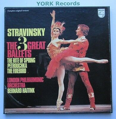 6747 094 - STRAVINSKY - The 3 Great Ballets HAITINK LPO - Ex 3 LP Record Box Set