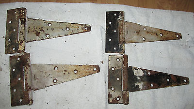 Nice Old  Barn Door Hinges-RUSTIC REPURPOSE-ANTIQUE BARN DOOR