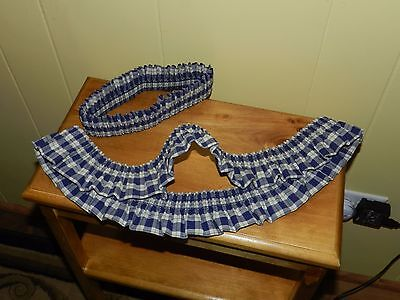 Longaberger Retired Blue Ribbon Garters One Large & One Small