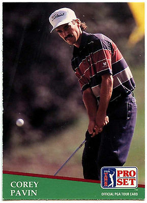 Corey Pavin #3 PGA Tour Golf 1991 Pro Set Trade Card (C321)