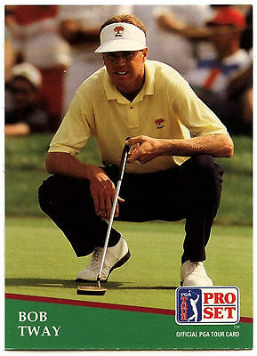 Bob Tway #126 PGA Tour Golf 1991 Pro Set Trade Card (C321)
