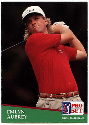 Emilyn Aubrey #122 PGA Tour Golf 1991 Pro Set Trade Card (C321)