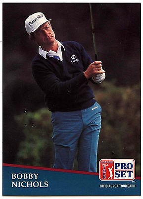 Bobby Nichols #238 PGA Tour Golf 1991 Pro Set Trade Card (C321)